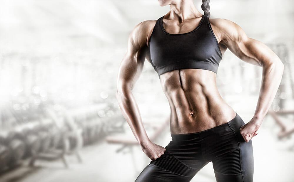 weibliche Muskel als Schönheitsideal