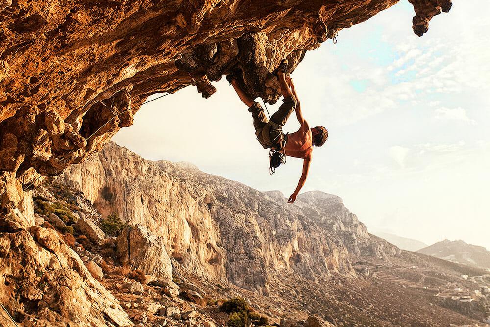 Adrenalinsportarten: free climbing
